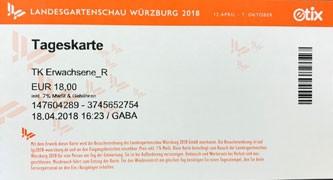 Eintrittskarte Landesgartenschau 2018